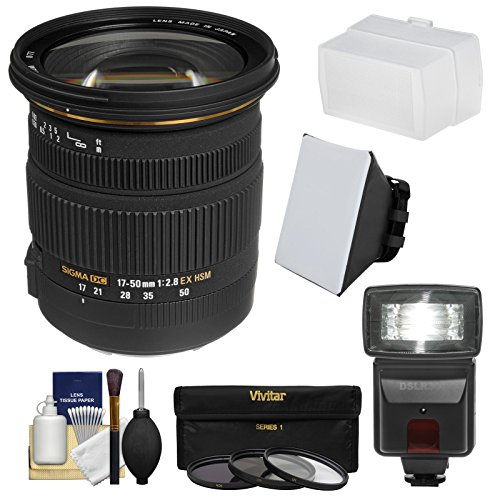Sigma 17-50mm f/2.8 f2.8 EX DC OS HSM Lens Black for Canon - 1