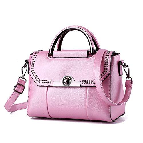 Bolsos De Hombro Del Bolso De Las Mujeres De La Moda Bolso De Mensajero Cruzado Del Bolso Del Cuerpo De La PU Disponible En 5 Colores Pink