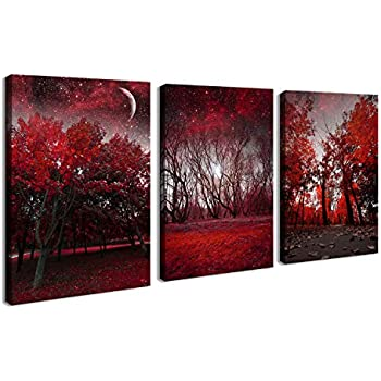 Amazon.com: youkuart 4 Panel Flower Canvas Print Wall Art Painting ...