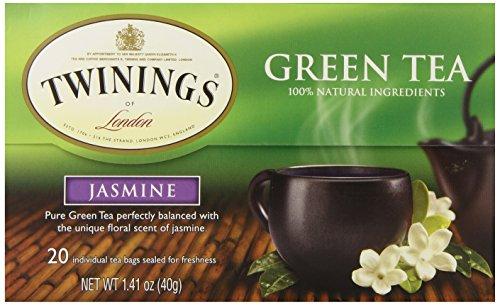 Twinings Thé vert au jasmin, Boîtes 1,41 onces (Pack de 6)