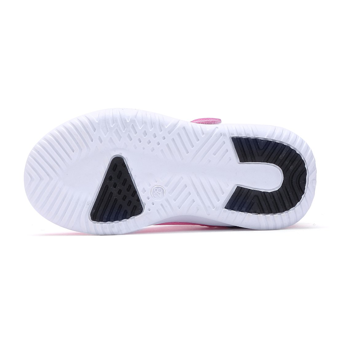 BTDREAM Boy and Girl's Breathable Fashion Sneakers Athletic Outdoor Sports Running Shoes Pink Size 26 by BTDREAM (Image #6)