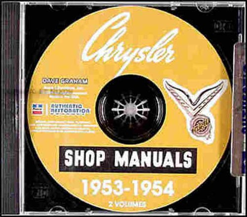 1953 1954 CHRYSLER & IMPERIAL CARS REPAIR SHOP & SERVICE MANUAL & BODY MANUAL CD INCUDES: C-60 Windsor, C-56 New Yorker, C-58 Custom Imperial, and C-59 Crown Imperial and all - C60 Car