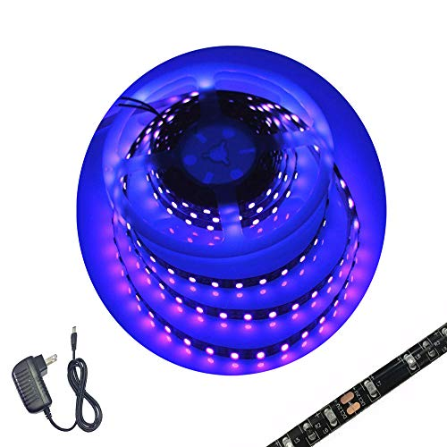 The Vault Club Halloween (UV Led Strip Light Blacklight Waterproof Night Fishing Light with 2A Power Supply DC12V, 16.4FT/5M 3528SMD)