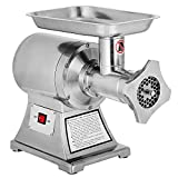 Happybuy Meat Grinder Electric 1.5HP/1100W Commercial Sausage Stuffer Maker Stainless Steel 220 RPM Maker for Industrial and Home Use