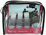 Flybags - Clear TSA Compliant Toiletry Bag with Pink Stitching and Recyclable Insert