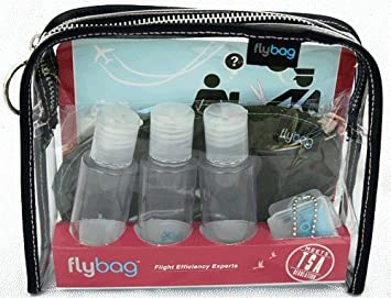 9c5e3d62010d Flybags - Clear TSA Compliant Toiletry Bag with Pink Stitching and  Recyclable Insert