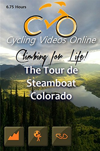 Climbing for Life! The Tour de Steamboat, Colorado, a Virtual 100 Mile Bike Ride. Indoor Cycling Training / Leg Spinning, Fitness and Workout Videos by BtBoP