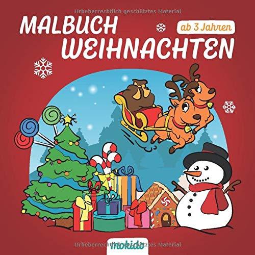 Malbuch Weihnachten ab 3 Jahren: Ein schönes Weihnachtsfest