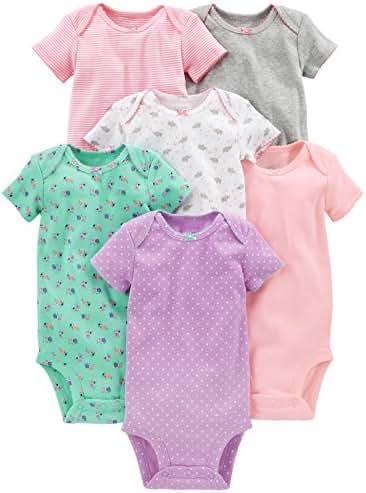 Simple Joys by Carter's Baby Girls' 6-Pack Short-Sleeve Bodysuit