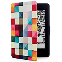 All-New Kindle E-reader case, Pasonomi® Lightest and Thinnest Protective Leather Case Cover with Auto Wake/Sleep for Amazon All-New Kindle (8th Generation, 2016) (Diamond)
