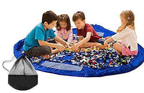 UWYSTONUS Toy Storage Bag, Large Tidy Bag Kids Rug Portable Kids Toys Organizer Storage Drawstring Bag Play Mat 150cm