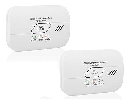 Smartwares Detector de monóxido de Carbono (con batería de 3 años, CO2 Warner según