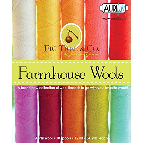 Fig Tree and Co Farmhouse Wools Aurifil Thread Kit 10 Small Spools 12 Weight - Store Fig