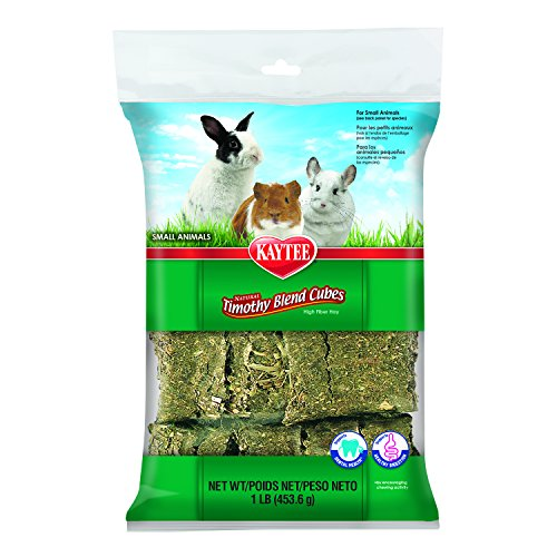 Kaytee Natural Timothy Blend Cubes for Rabbits & Small Animals, 1 Pound ()