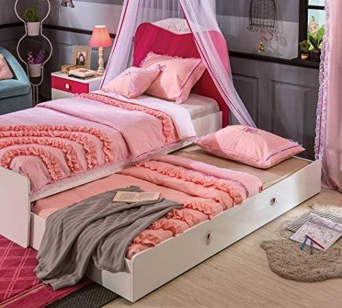 Cama individual y cama nido para invitados abatible: 105 cm ...