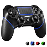 PS4 Controller ORDA Wireless Gamepad for PS4/PS4 Pro/PC and Laptop with Vibration and Audio Function, Mini LED Indicator, High-Sensitive Controller with Anti-Slip