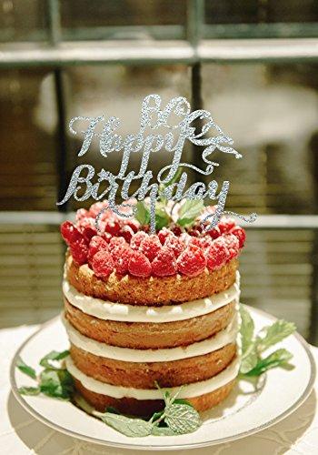 Ser feliz cumpleaños decoración para tarta para plateado ...