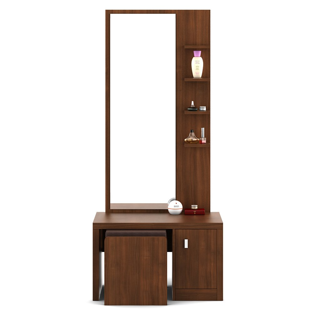 Indian dressing table designs with mirror - Spacewood Ciara Dresser Table With Stool Walnut Rigato