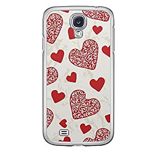 Loud Universe Samsung Galaxy S4 Love Valentine Printing Files A Valentine 11 Printed Transparent Edge Case - Beige/Red