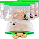 6 Reusable Storage Bags EXTRA THICK –Reusable Ziplock Bags Perfect for Food Storage