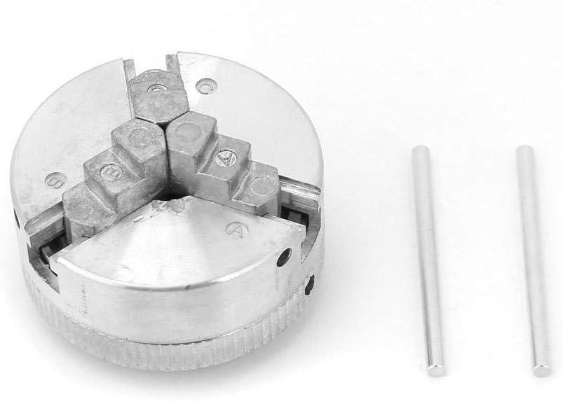 Z011 Aleaci/ón de Zinc Abrazadera de Mandril de 3 mordazas Accesorio Carpinter/ía Torno Mandril de Madera Mandril de Mandril Torno M/áquina de Torno de Metal para Mini Torno de Metal Mandril de Torno