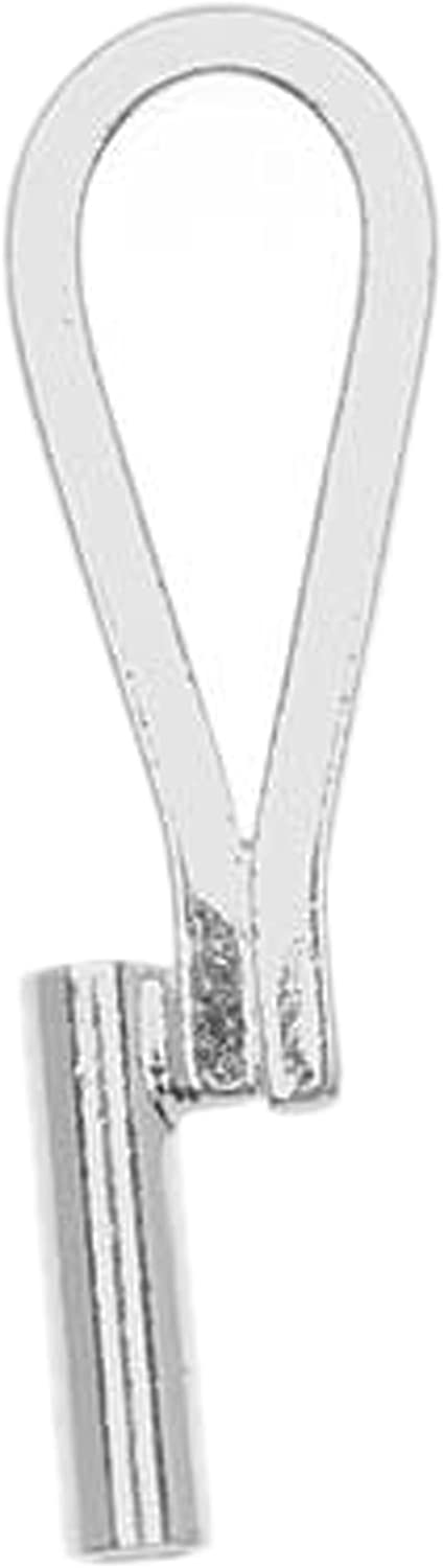 Brooch Necklace Converter Silver Plated Vertical