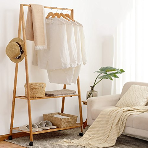 LBMy Hangers Coat rack floor bedroom drying racks bamboo sim