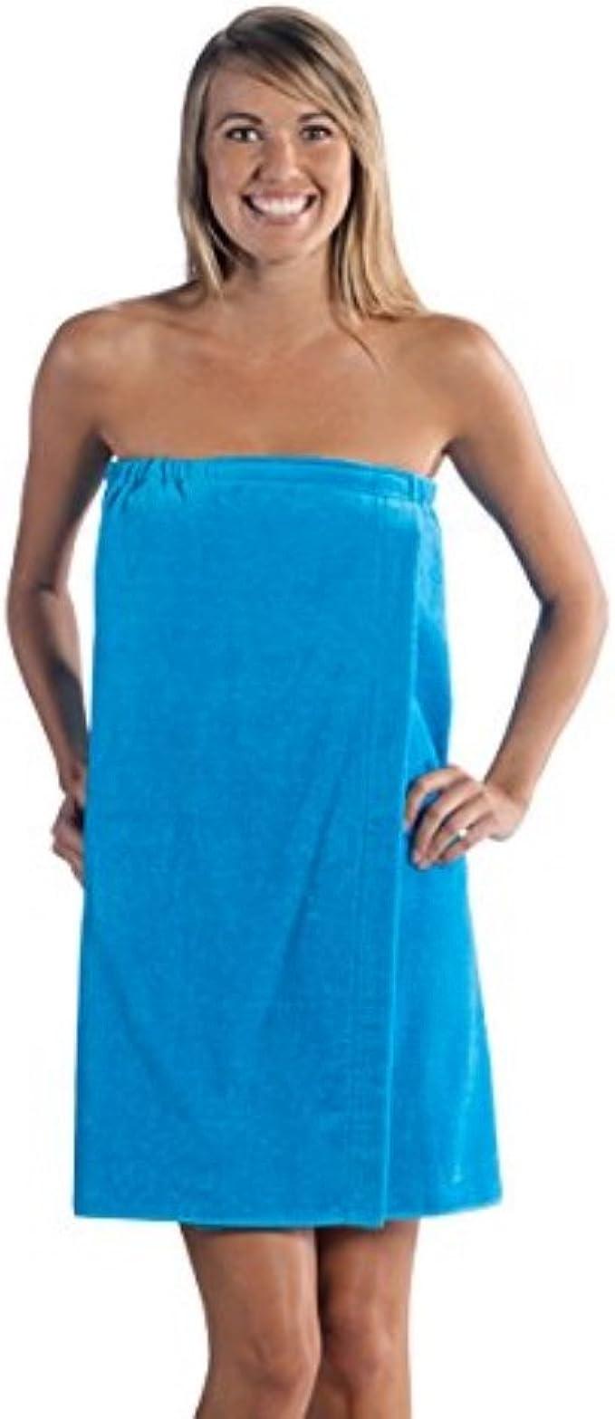 Ladies Plus Size White Velour Spa Wrap