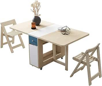 Mesas y sillas Plegables: Mesa y sillas de Comedor de Madera Maciza Simples, Almacenamiento Plegable Multifuncional, Adecuado para restaurantes, Salas de Estar, cocinas: Amazon.es: Hogar