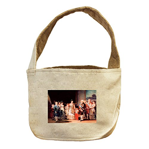 Style in Print Charles Iv Of Spain & His Family (Goya) Canvas and Burlap Storage Basket by Style in Print