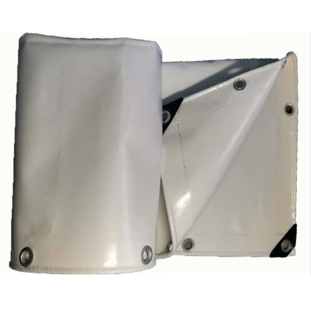 防水シート防水日焼け止めテントパネル屋根防風織キャンバスポリエステル、グレー、650 G / M2、から選択する4サイズ B07R6CNVQ3