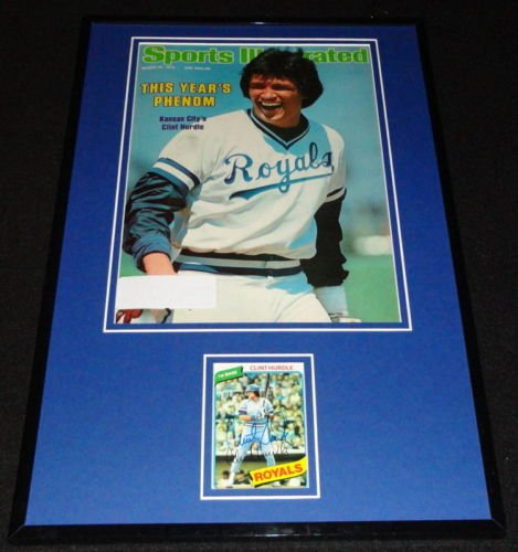 Clint Hurdle Signed Framed 1978 Sports Illustrated Cover Display Royals - Cover Illustrated Sports 1978