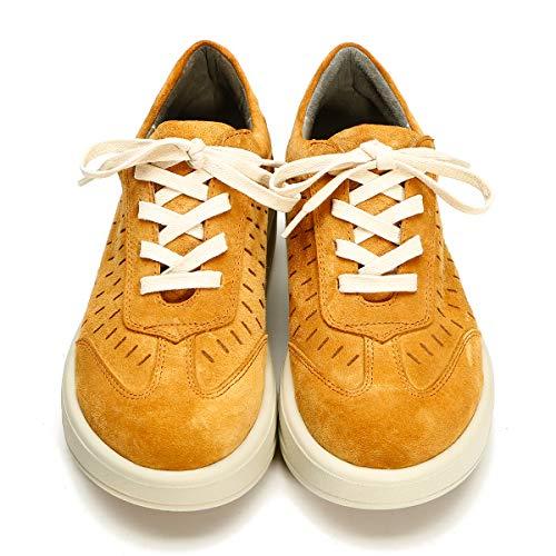 Leder Schuhe Schnürschuhe Platform Orange Damen RoseG Creepers w04OzExaq
