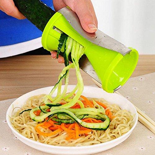JD Million shop Vegetable spiral slicer carrot cucumber zucchini noodle julienne cutter peeler kitchen piece grater cooking tool (Halloween Carrot Cupcakes)