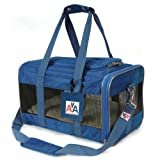 "Sherpa-American Airlines Navy Blue Duffle Pet Travel Carrier Tote Bag. Medium 17""L x 10.5""W x 11""H"