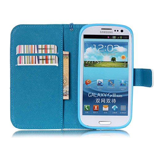 Galaxy S3 i9300 Coque , Samsung Galaxy S3 i9300 Coque Lifetrut® [ the iPhone is Locked ] [Wallet Fonction] [stand Feature] Magnetic snap Wallet Wallet Prime Flip Coque Etui pour Samsung Galaxy S3 i930