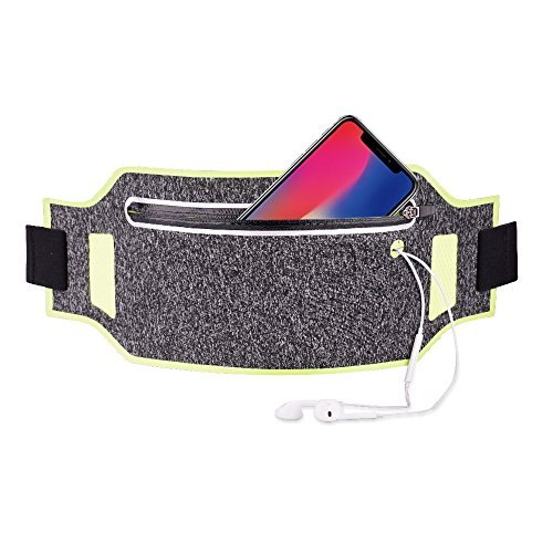 iPhone 8 Running Belt, Ultra Light Bounce Free Waist Pouch Fitness Workout Belt Sport Waist Pack Exercise Waist Bag for Apple iPhone 8 X 7 6+5s Samsung in Running Gym (Out Pouch)