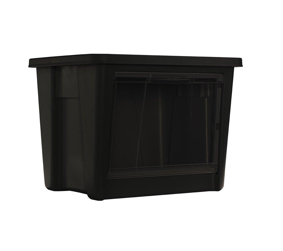 Amazon.com: Caja de almacenamiento de Rubbermaid con acceso ...
