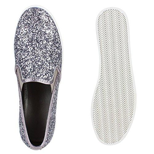 Japado Women's Loafers Silver - silver sghil