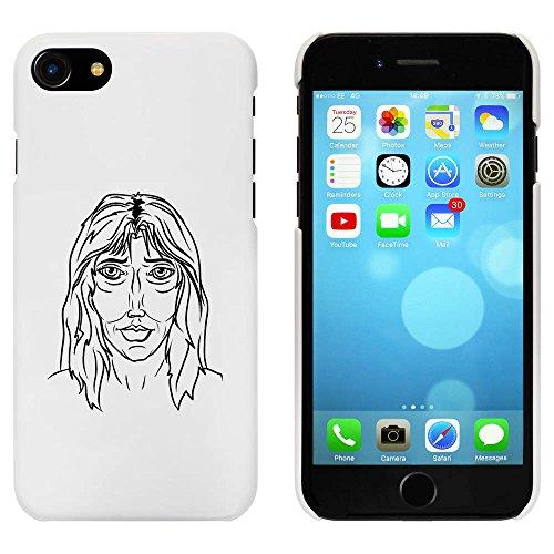 Blanc 'Visage de Femme' étui / housse pour iPhone 7 (MC00057542)