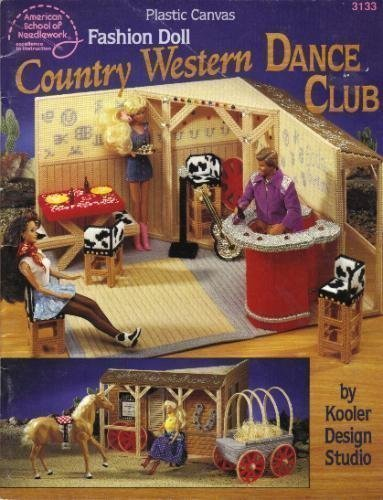PLASTIC CANVAS FASHION DOLL COUNTRY WESTERN DANCE CLUB (Fashion Canvas Plastic Doll)