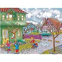 Eksen Mevsimler (Sonbahar) 35 Parça Ahşap Puzzle