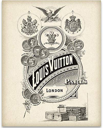 - Louis Vuitton Vertical Logo - 11x14 Unframed Art Print - Great Home and Bathroom Decor Under $15