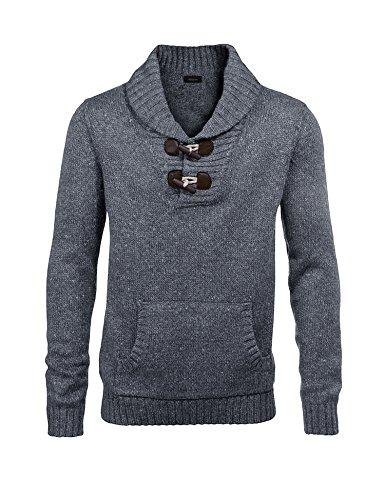 Jinidu Men's Knitted Slim Fit Shawl Collar Sweater