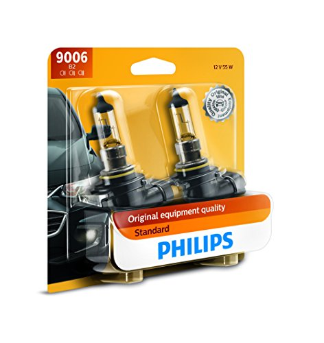 Philips 9006 Standard Halogen Replacement Headlight Bulb, 2 Pack (Matrix Headlight Headlight Toyota)
