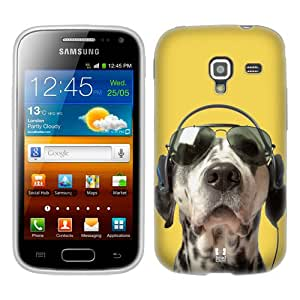 Head Case Designs Grooving Dalmatian Funny Animals Soft Gel Back Case Cover for Samsung Galaxy Ace 2 I8160