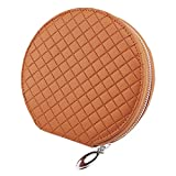 PU Leather 20 Capacity Disc CD DVD Media Allbum Storage Case Bag Wallet Holder for Car Home Office (Case Bag Brown Color) by HitCar