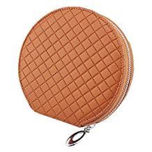 PU Leather 20 Capacity Disc CD VCD DVD Storage Case Bag Wallet Holder for Car, Home, Office ( Case Bag ¨C Brown Color ) by HitCar