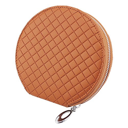 Disc CD DVD Media Storage Case Bag Wallet Allbum Holder PU Leather 20 Capacity for Car Home Office (Case Bag ¨C Brown Color) by ()