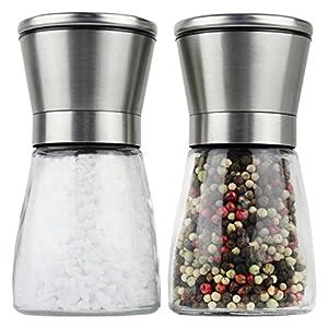 Moderne Salz und Pfeffermühle | 2- teiliges Salz und Pfeffermühlen Set |...